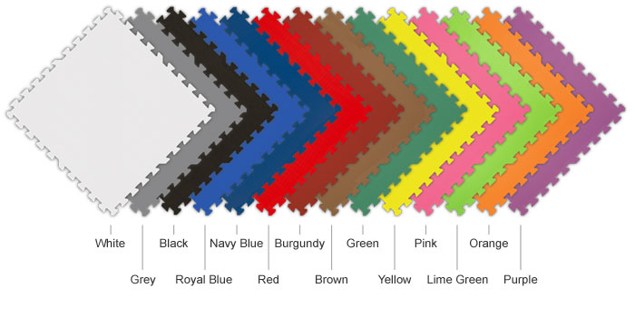 graphic of all 14 SoftFloor color options
