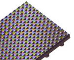 photo of pyramid top-knob back recess mat