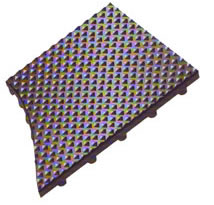 photo of pyramid top - knob back mats