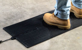 photo of foot warmer for warehouses