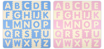 photo of play and learn alphabet soft tile sets