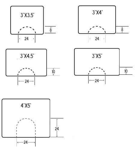 diagram of anti-fatigue mat rectangular sizes