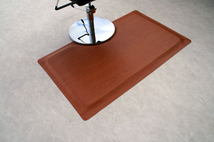 photo of softwoods salon anti-fatigue mat