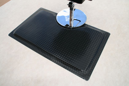 photo of black sport salon mat