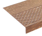 photo of diamond pattern rubber stair treads