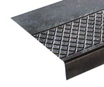 photo of diamond pattern rubber stair treads with extra-long nosing