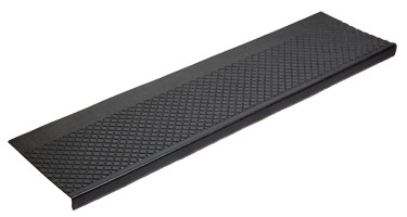 photo of outdoor recycled rubber stair tread