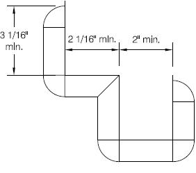 line drawing of minimum lay-out configuration